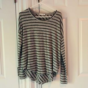 Rag and Bone - striped fabric sweater - very cute